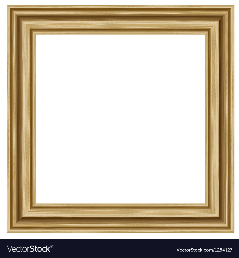 Realistic wooden frame vector | Price: 1 Credit (USD $1)