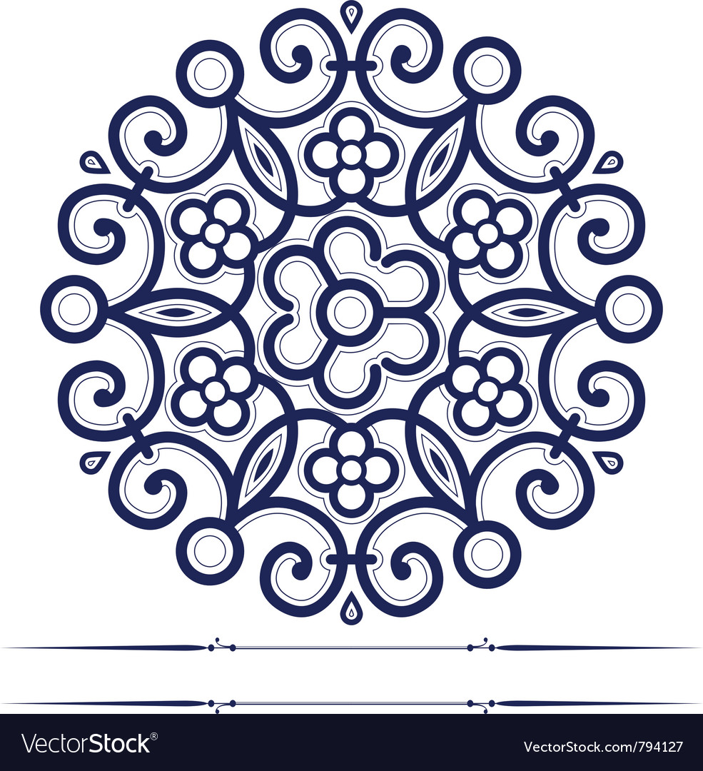 Round lace ornate background in vector | Price: 1 Credit (USD $1)
