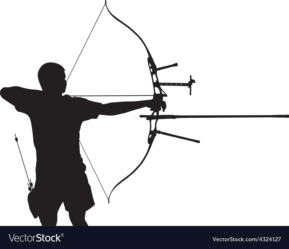 Silhouette of archer vector | Price: 1 Credit (USD $1)