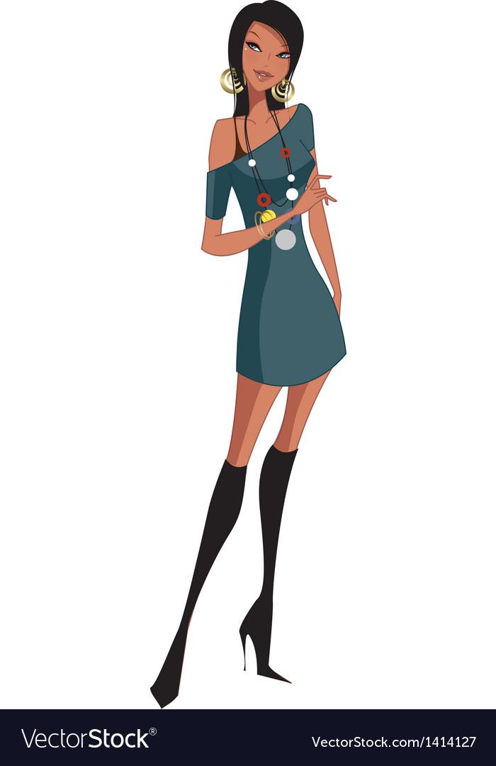 Stylish woman vector | Price: 3 Credit (USD $3)