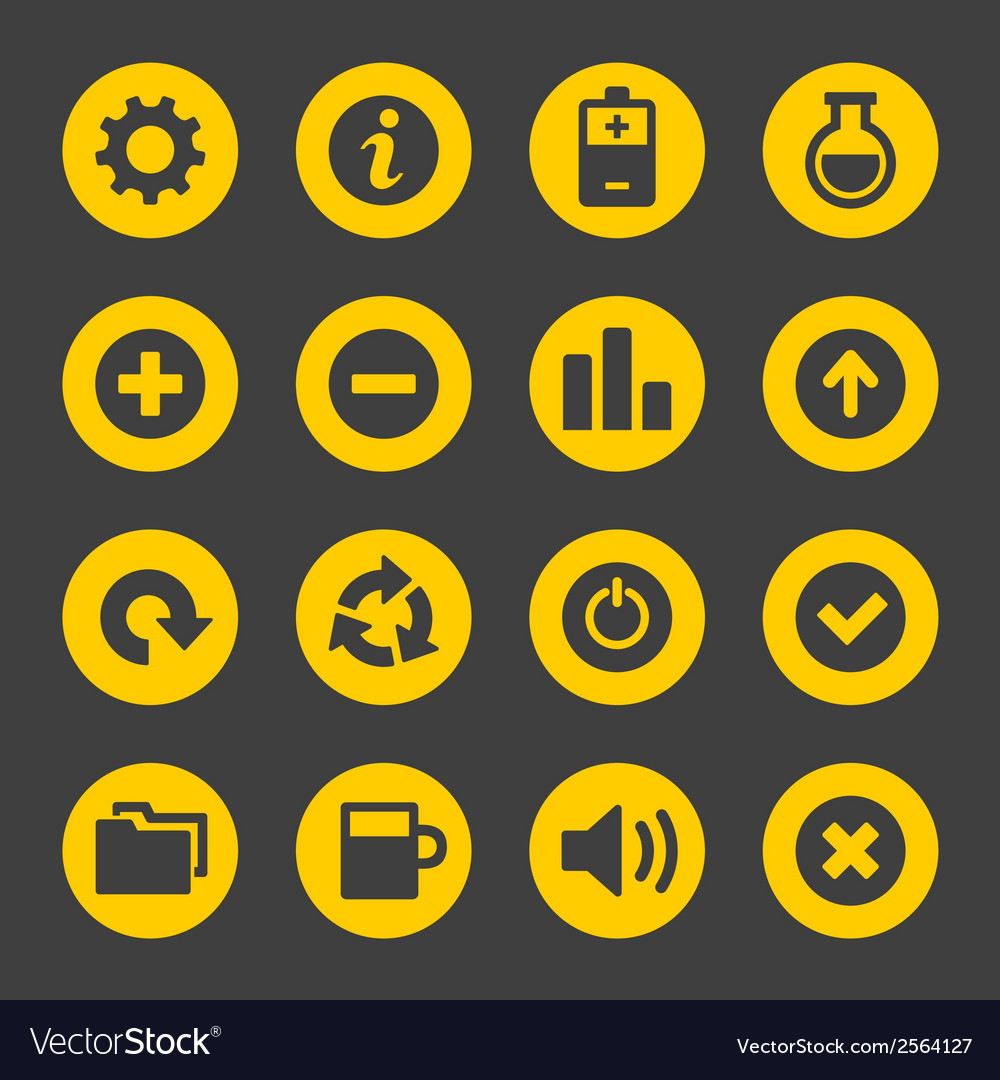 Universal simple web icons set 2 vector | Price: 1 Credit (USD $1)