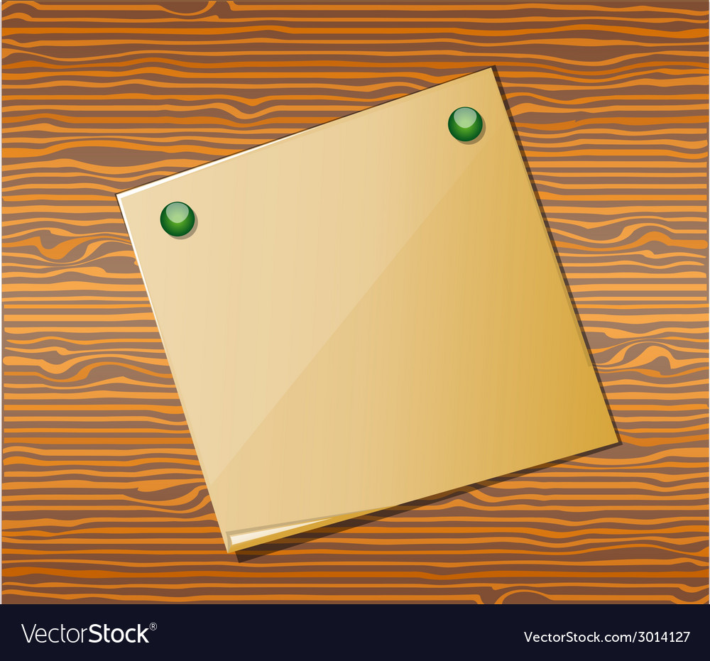 Wood texture with paper vector | Price: 1 Credit (USD $1)