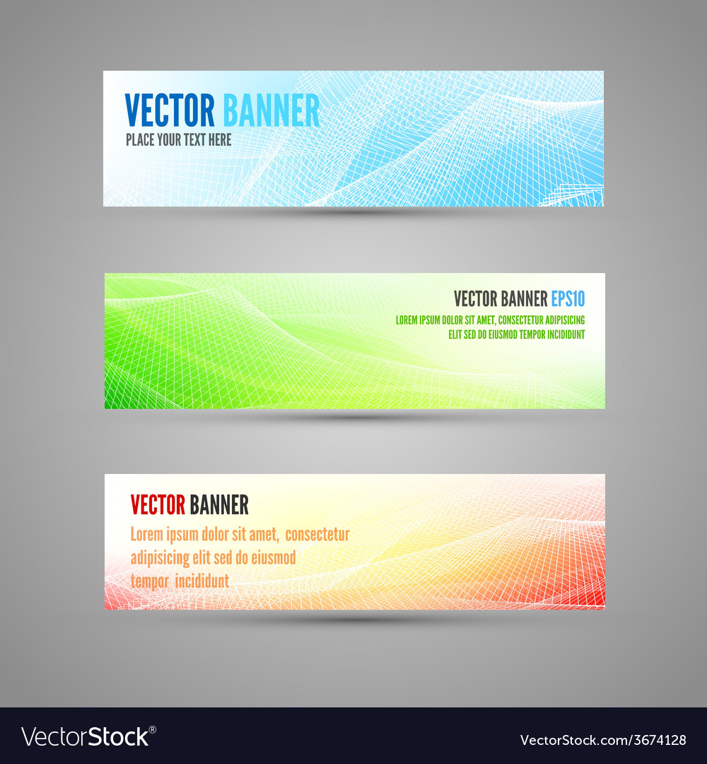 Colored banners vector | Price: 1 Credit (USD $1)