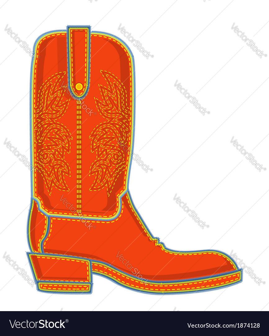 Cowboy boot symbol vector | Price: 1 Credit (USD $1)