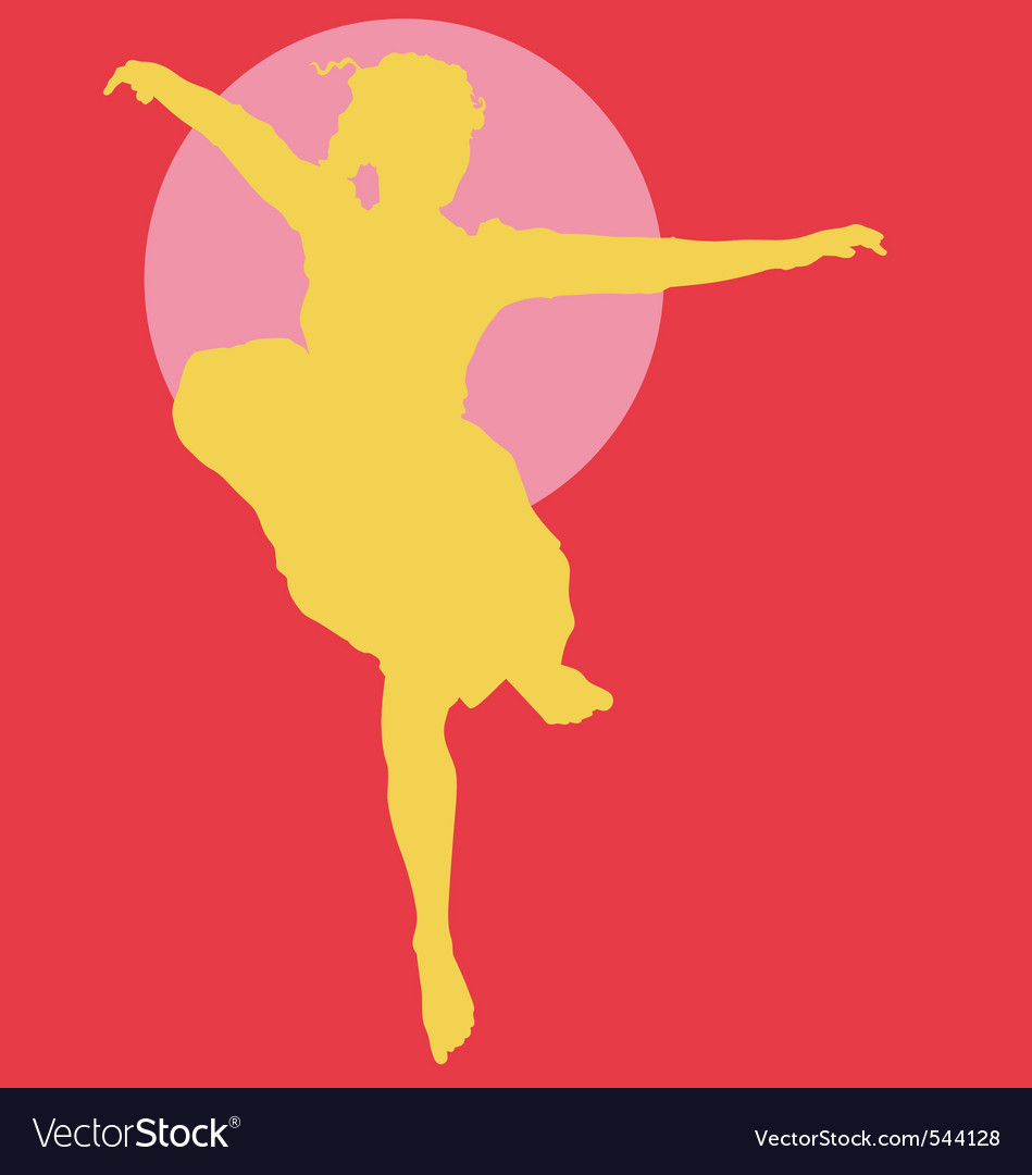 Dancing ballerina silhouette vector | Price: 1 Credit (USD $1)