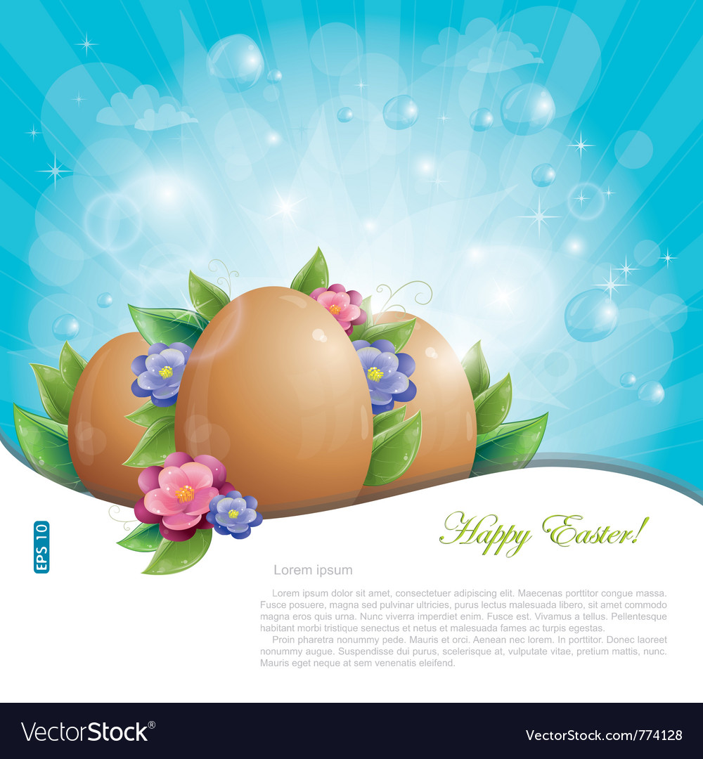 Easter eggs background vector | Price: 3 Credit (USD $3)
