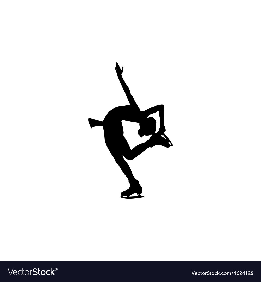 Figure skating individual silhouettes vector | Price: 1 Credit (USD $1)