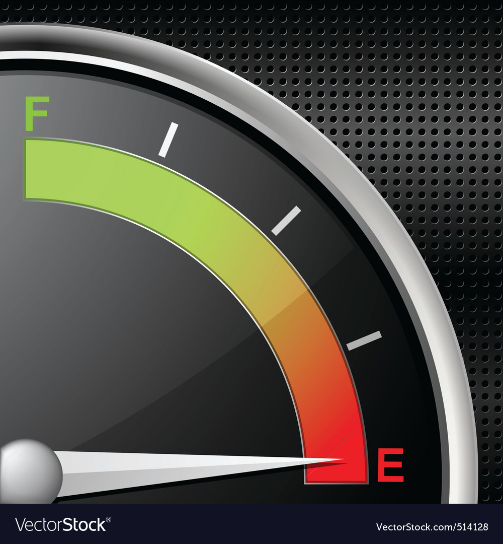 Fuel gauge empty vector | Price: 1 Credit (USD $1)