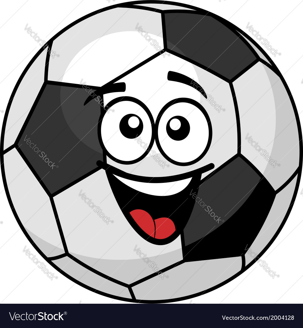 Goofy soccer ball with a big happy smile vector | Price: 1 Credit (USD $1)