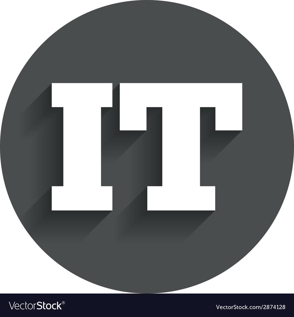 Italian language sign icon it italy translation vector | Price: 1 Credit (USD $1)
