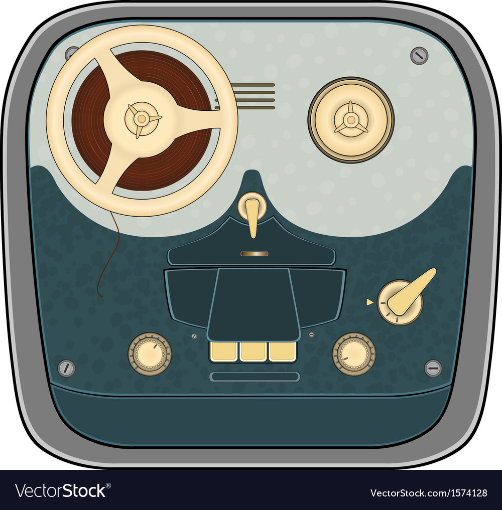 The old reel to reel audio tape recording vector | Price: 1 Credit (USD $1)
