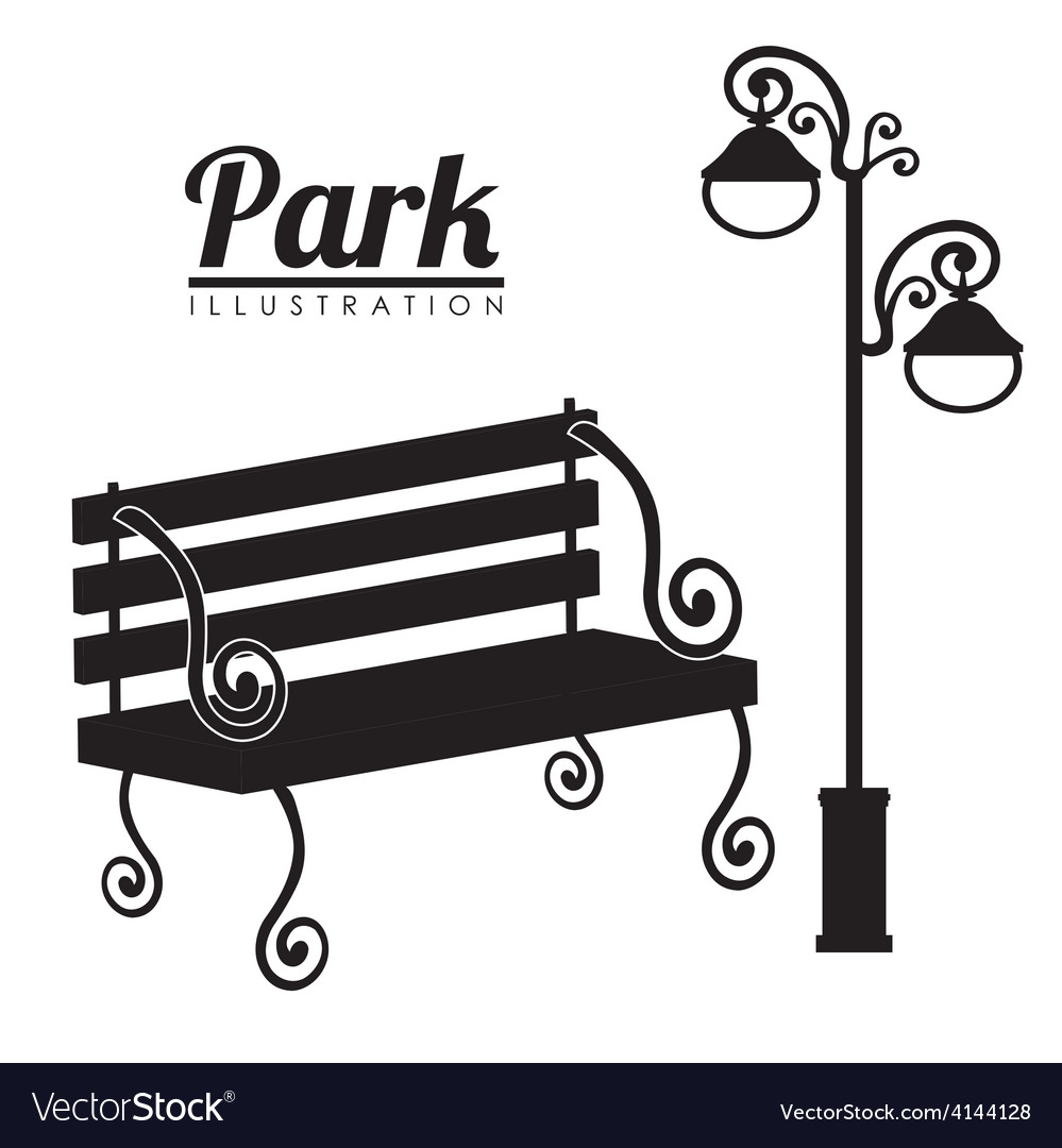 Park design vector | Price: 1 Credit (USD $1)