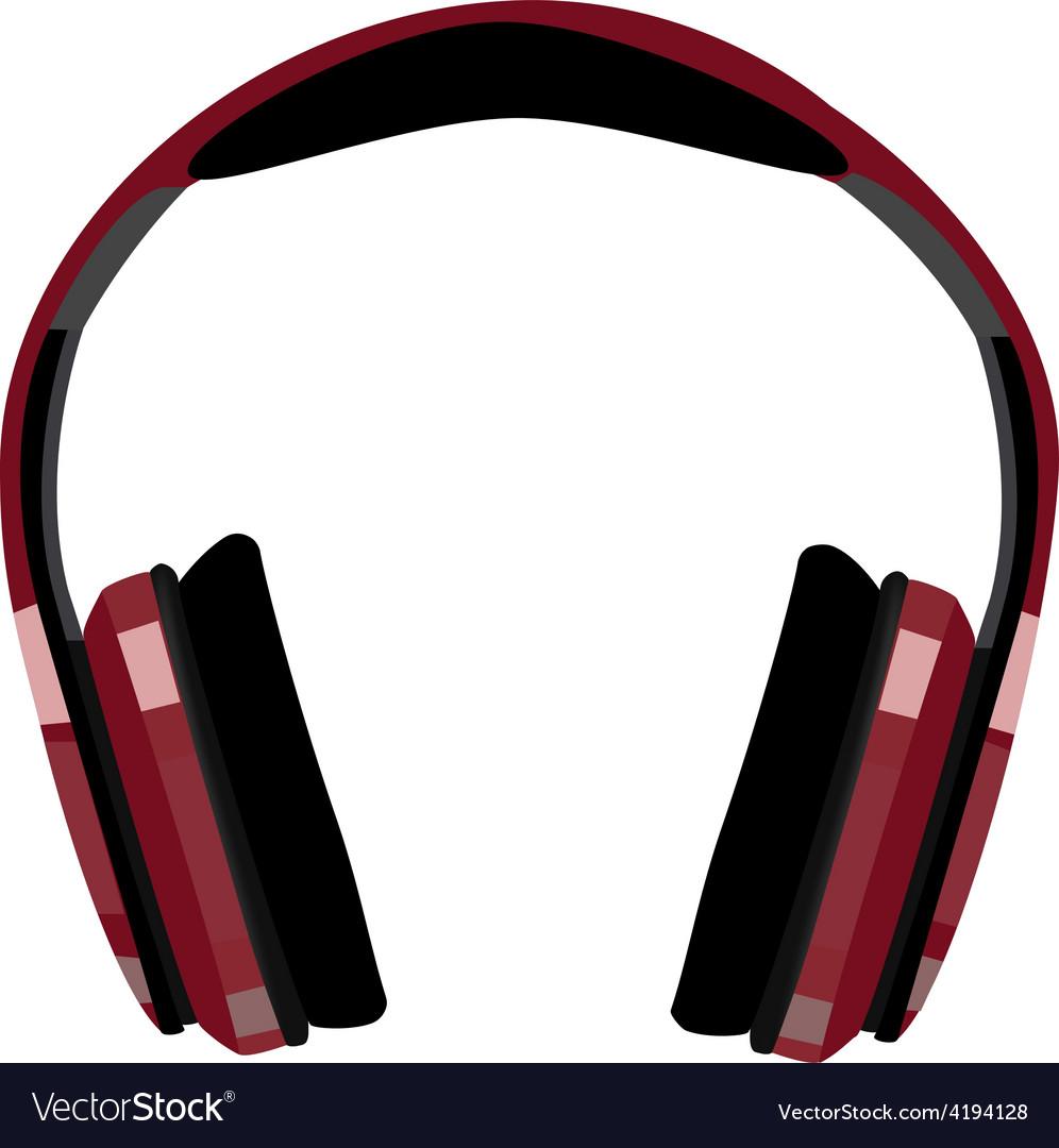 Red headphones vector | Price: 1 Credit (USD $1)