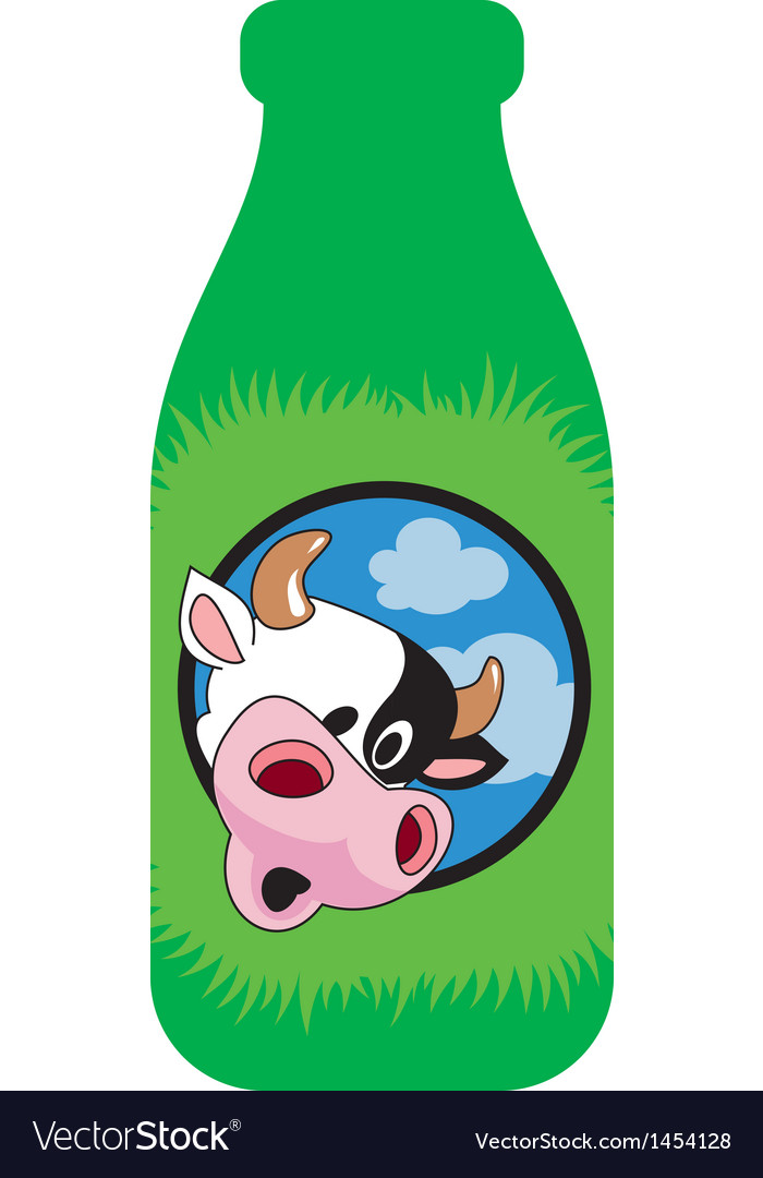 Surprised cow vector | Price: 1 Credit (USD $1)