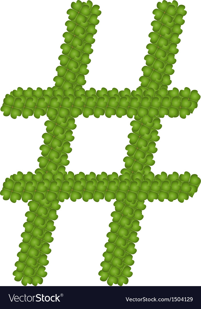 A four leaf clove of number sign vector | Price: 1 Credit (USD $1)