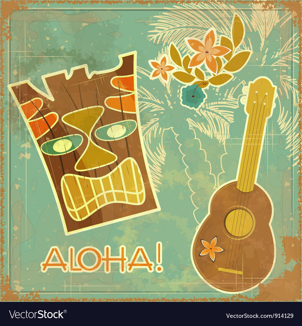 Aloha card vector | Price: 3 Credit (USD $3)