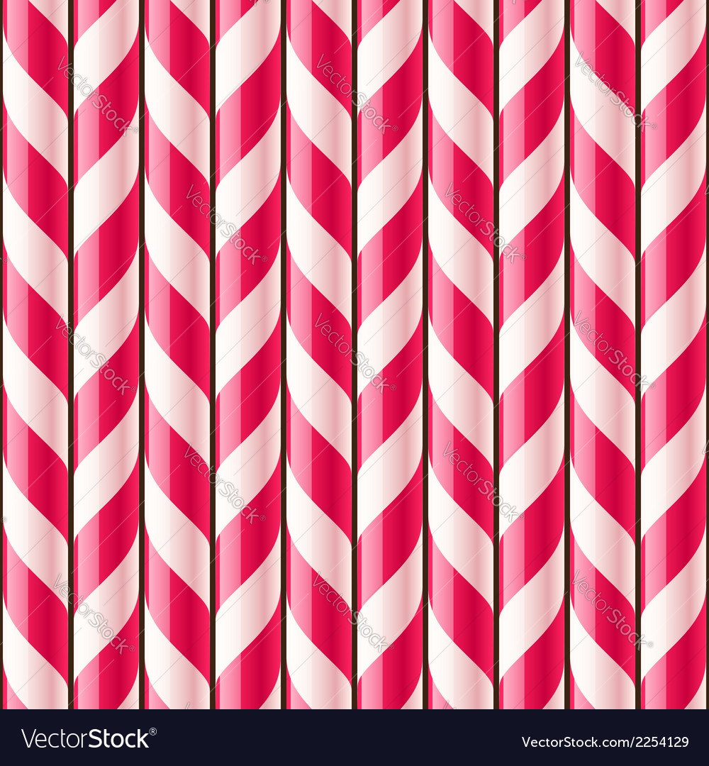 Candy cane seamless pattern vector | Price: 1 Credit (USD $1)