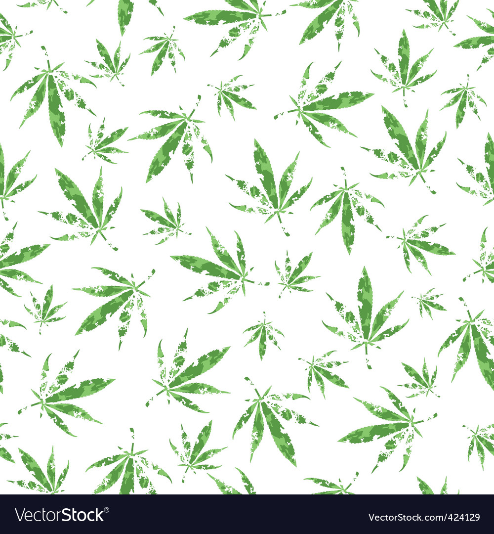 Cannabis pattern vector