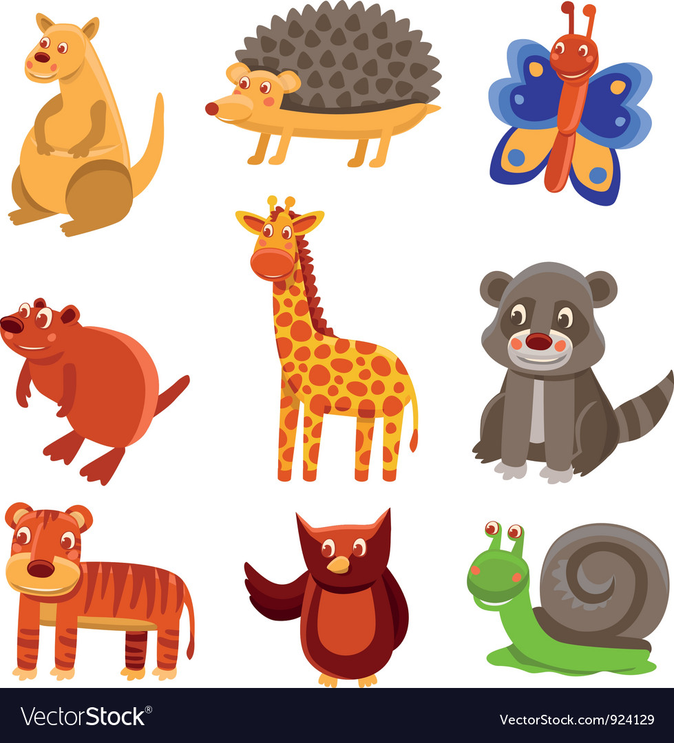Cute cartoon animals vector | Price: 3 Credit (USD $3)