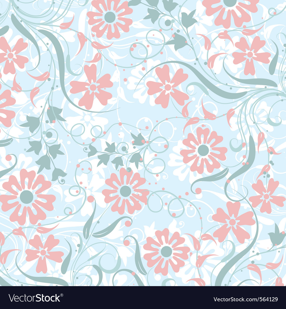Floral abstract pattern vector | Price: 1 Credit (USD $1)