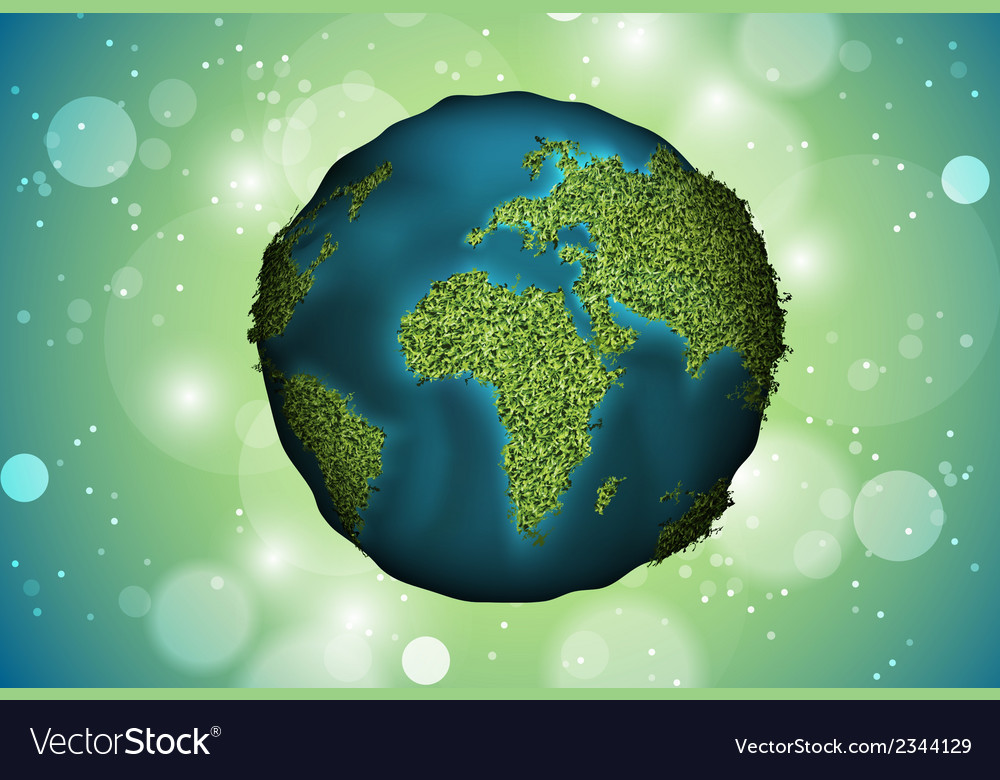 Green planet grass vector | Price: 1 Credit (USD $1)
