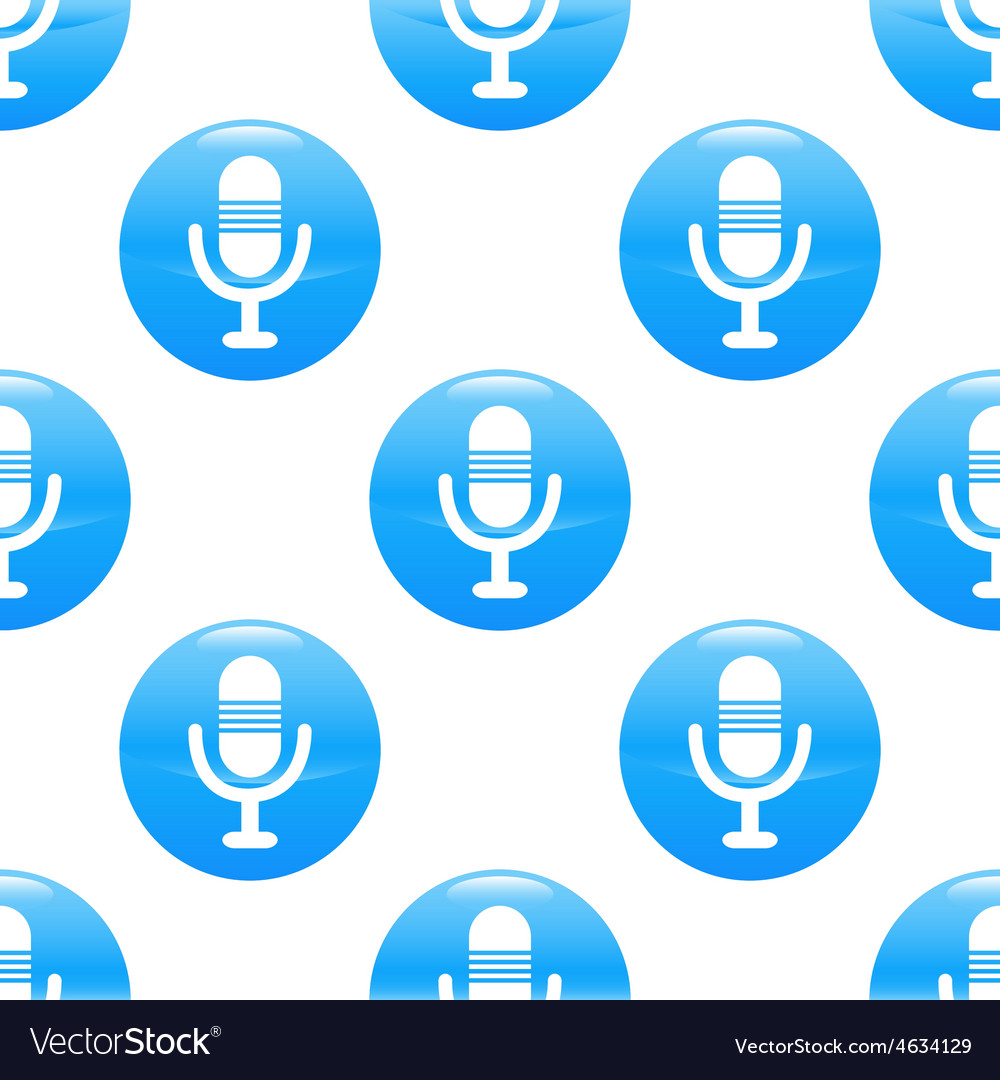 Microphone sign pattern vector | Price: 1 Credit (USD $1)