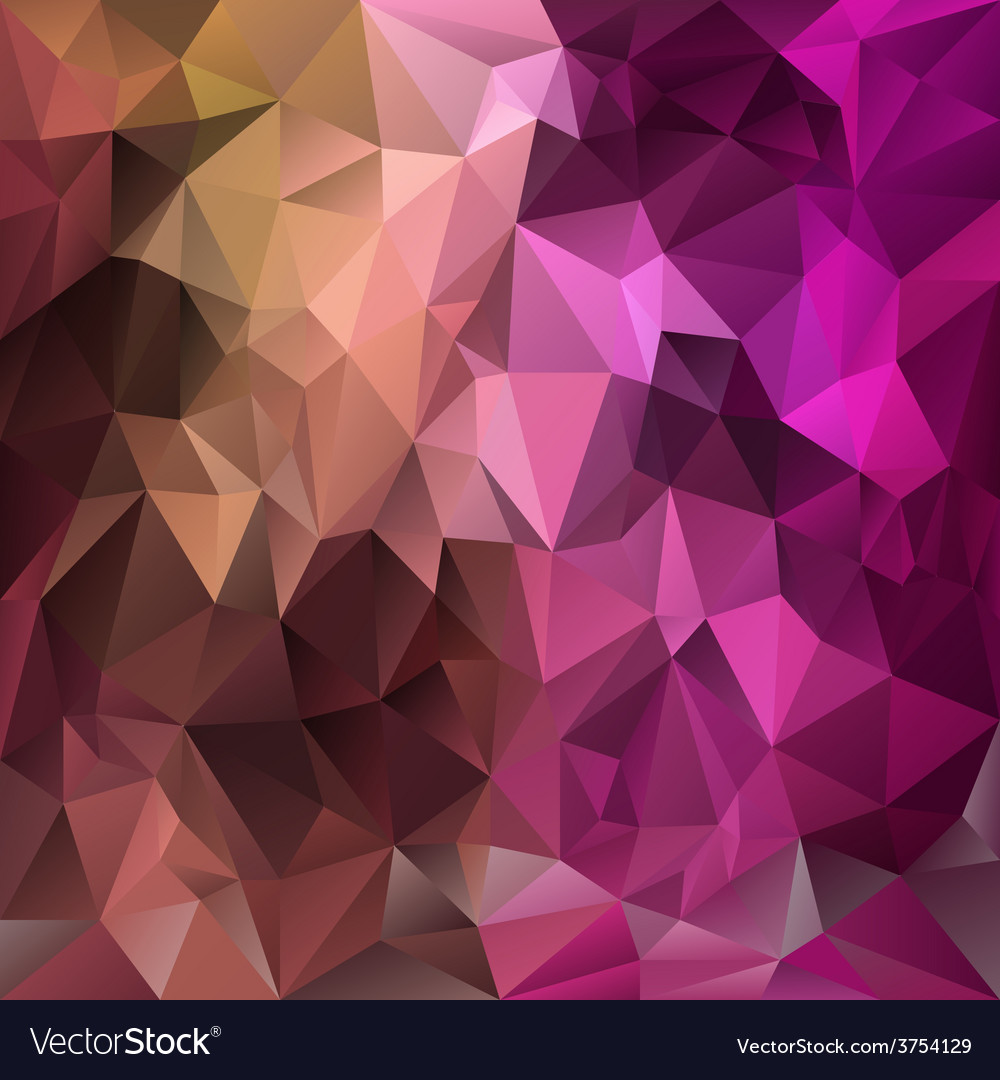 Pink purple brown polygonal triangular pattern vector | Price: 1 Credit (USD $1)