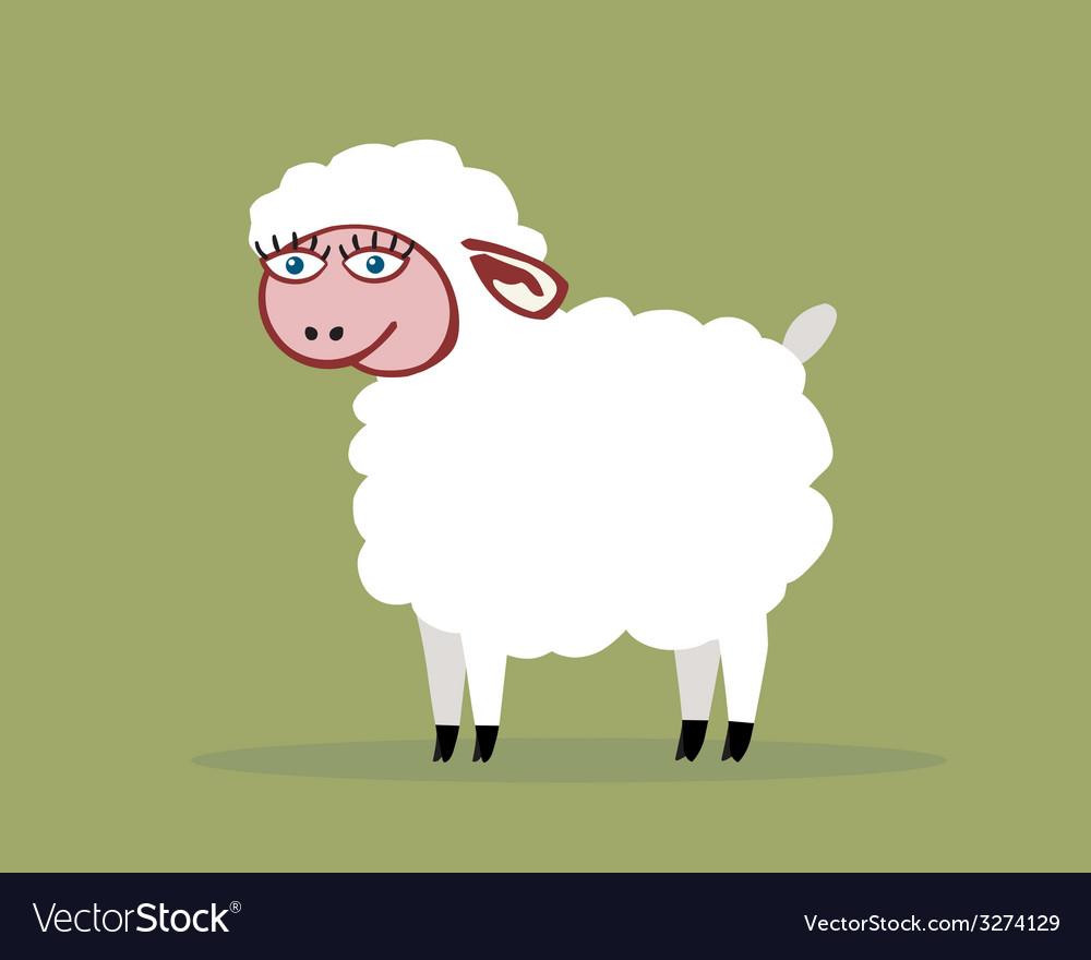 Sheep color vector | Price: 1 Credit (USD $1)
