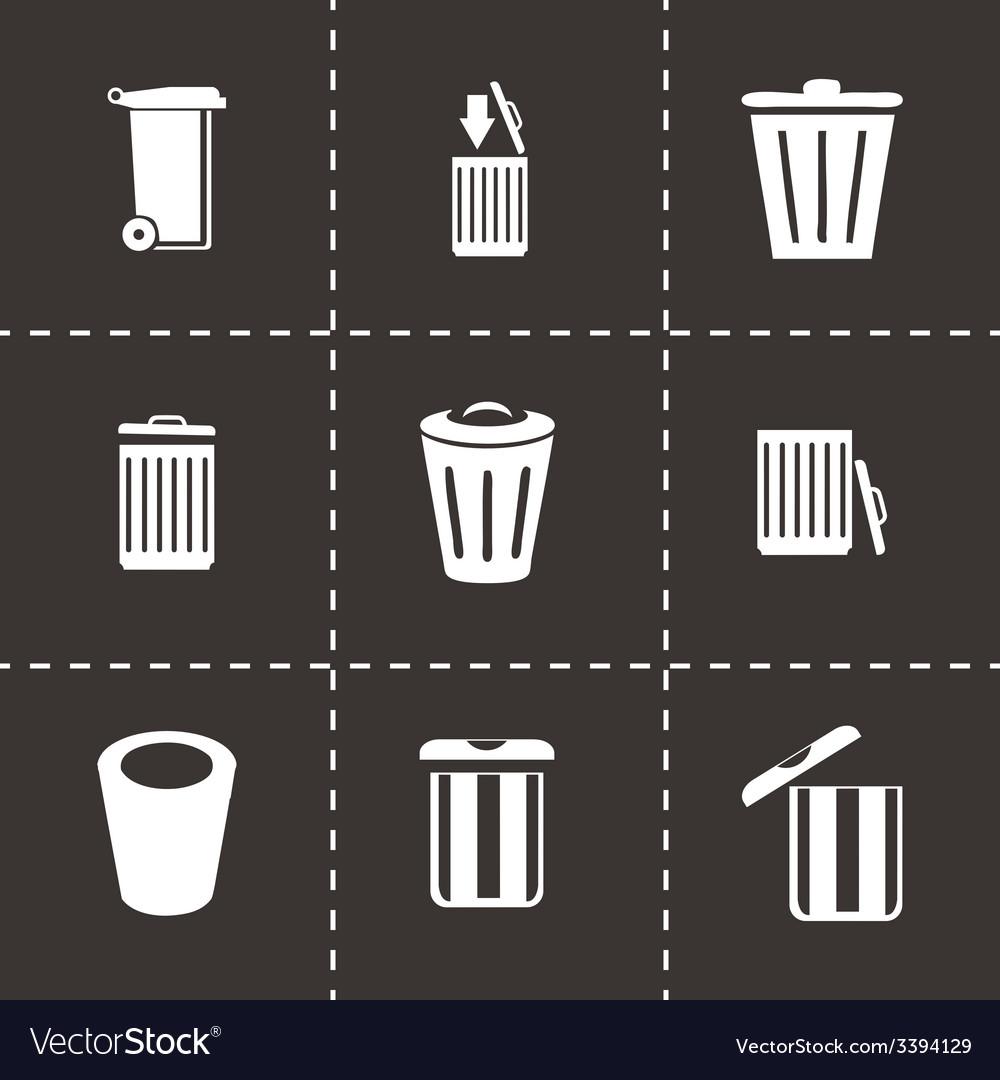 Trash icon set vector | Price: 1 Credit (USD $1)