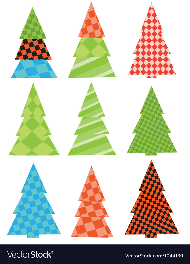 Abstract pattern christmas trees vector | Price: 1 Credit (USD $1)