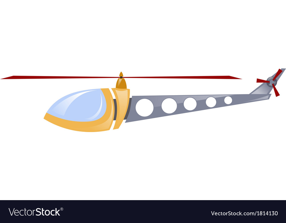 Childrens toy helicopter vector | Price: 1 Credit (USD $1)