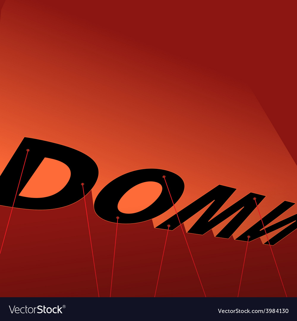 Down poster vector | Price: 1 Credit (USD $1)