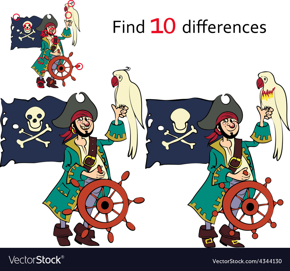 Find ten differences vector | Price: 1 Credit (USD $1)