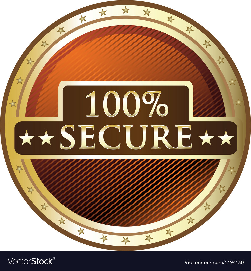 Hundred percent secure vector | Price: 1 Credit (USD $1)