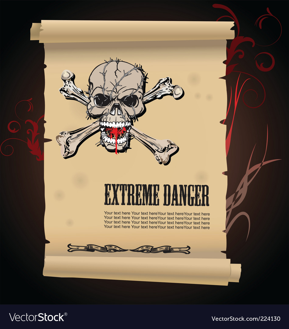 Skull extreme danger vector | Price: 3 Credit (USD $3)