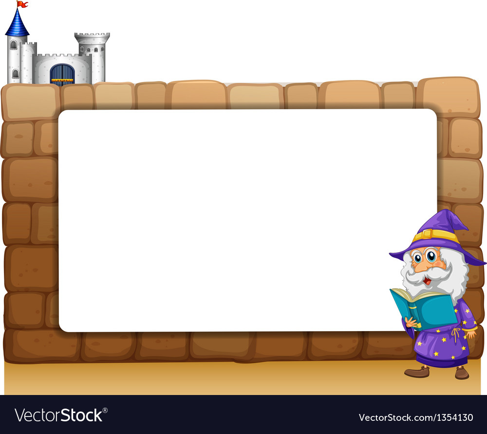 Wizard castle border frame vector | Price: 1 Credit (USD $1)