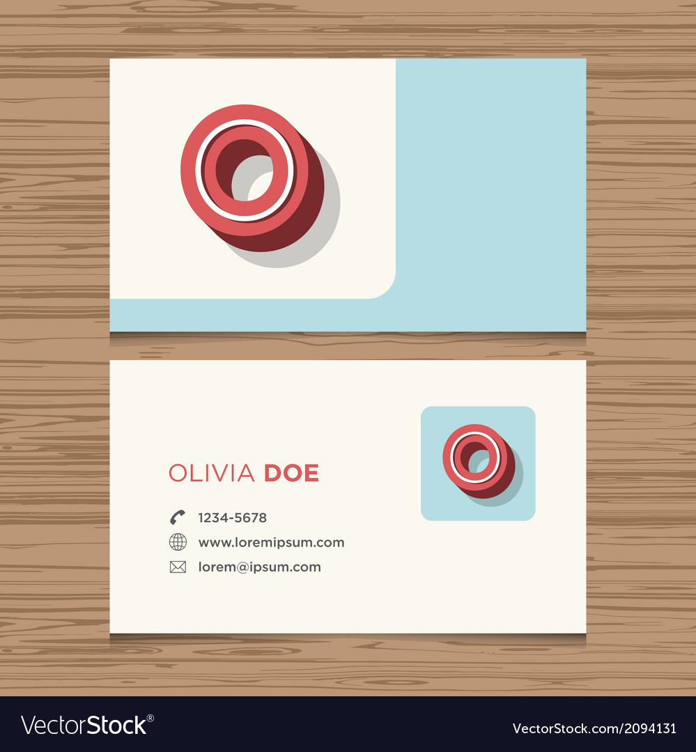 Business card letter o vector | Price: 1 Credit (USD $1)