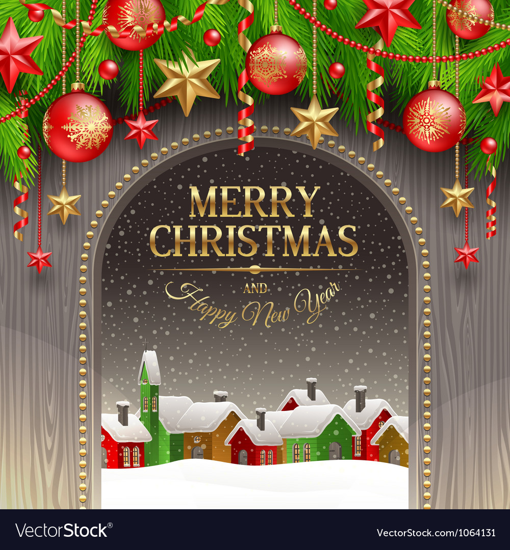 Christmas decor with baubles vector | Price: 3 Credit (USD $3)