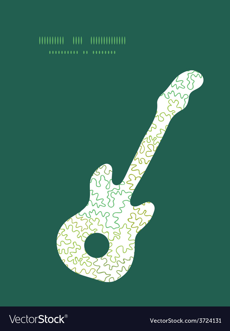Curly doodle shapes guitar music silhouette vector | Price: 1 Credit (USD $1)