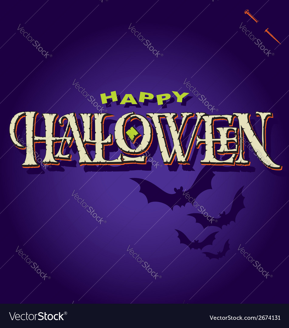Halloween hand lettering vector | Price: 1 Credit (USD $1)