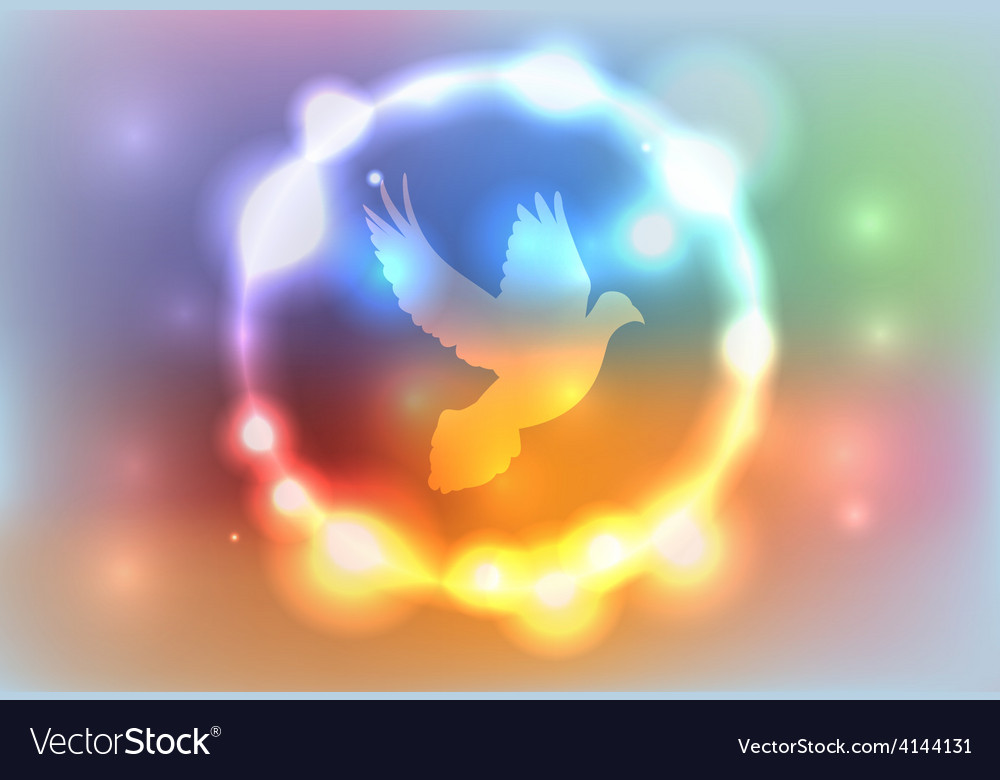Heaven glow dove vector | Price: 1 Credit (USD $1)