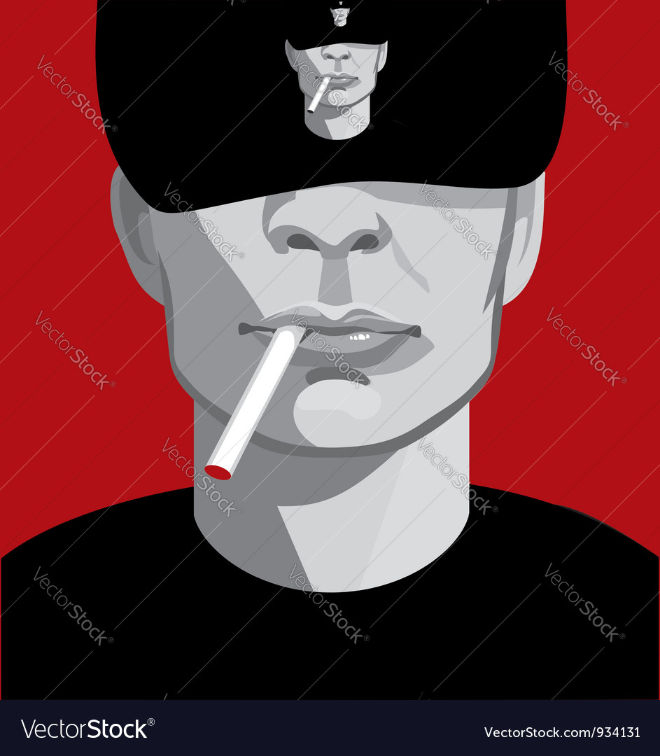 Man smoking vector | Price: 1 Credit (USD $1)