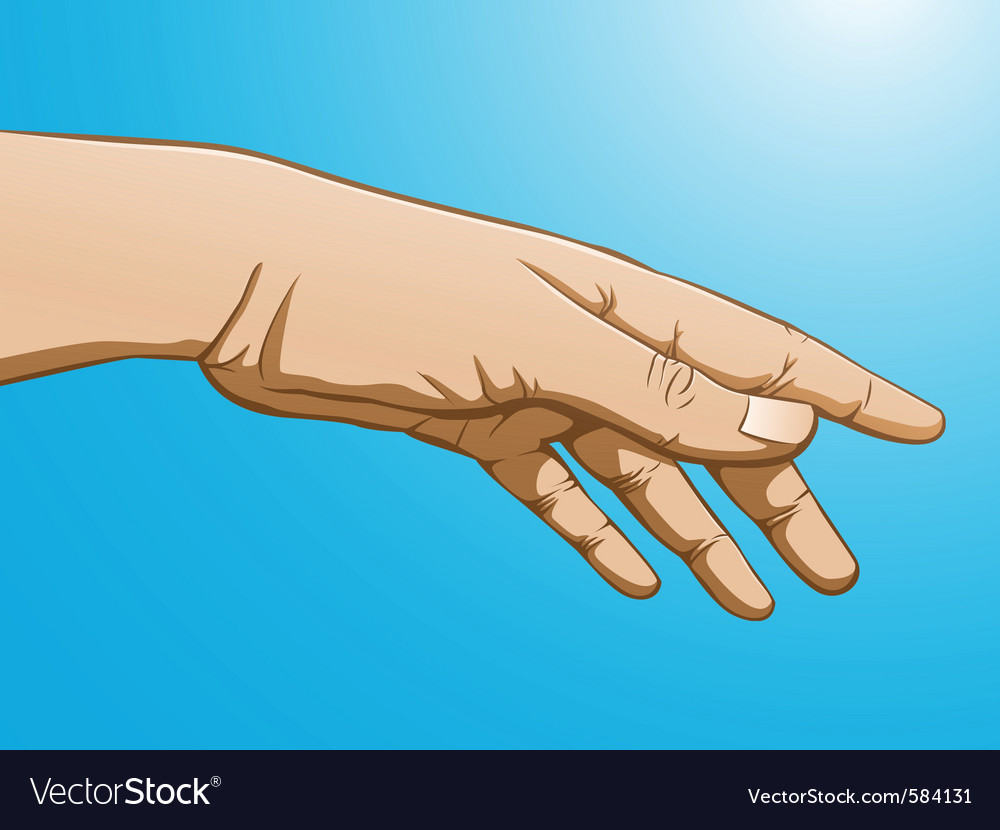 Reaching hand vector | Price: 1 Credit (USD $1)