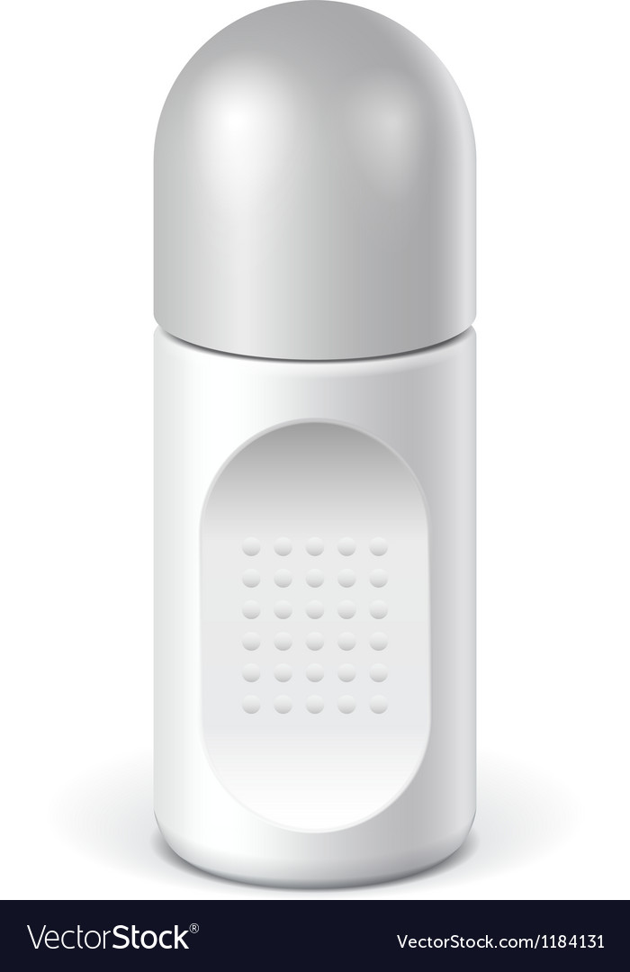 Realistic white cosmetics bottle can spray vector | Price: 1 Credit (USD $1)