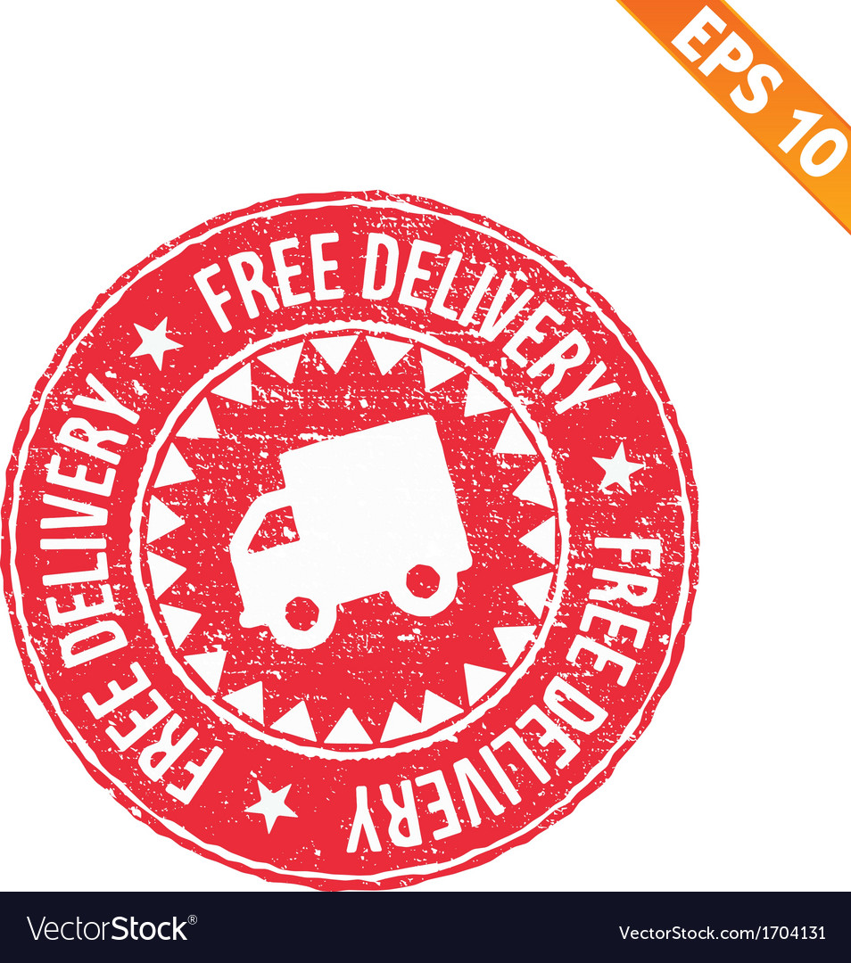 Rubber stamp free delivery - - eps10 vector | Price: 1 Credit (USD $1)