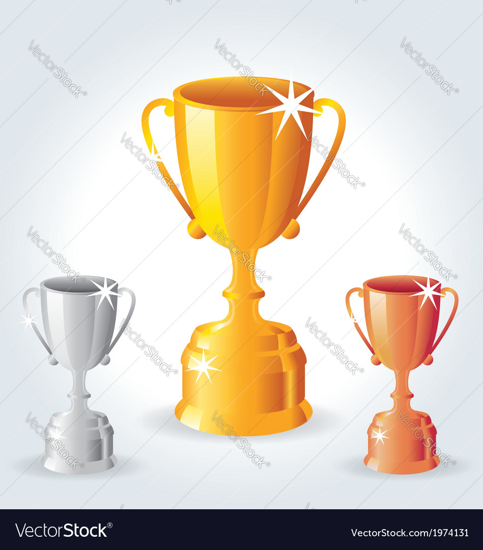 Trophies - gold silver and bronze vector | Price: 1 Credit (USD $1)