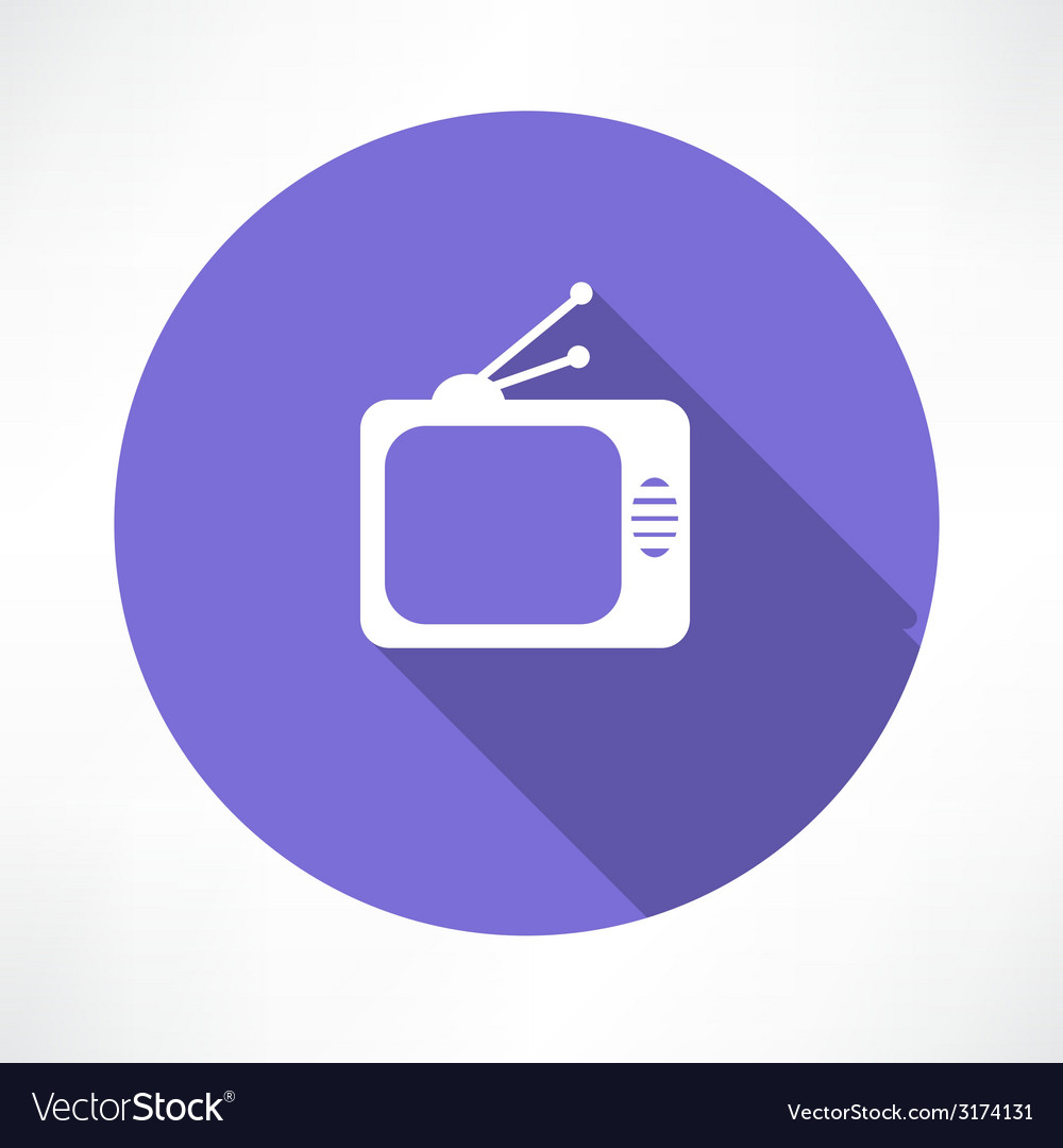 Tube tv icon vector | Price: 1 Credit (USD $1)
