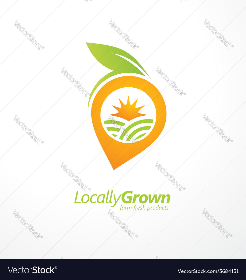 Vegetable logo design concept layout vector | Price: 1 Credit (USD $1)