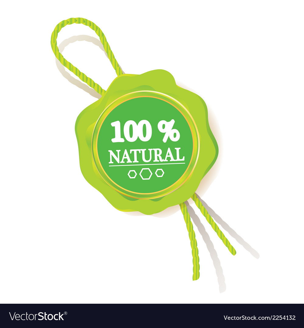 100 natural sign label template vector | Price: 1 Credit (USD $1)