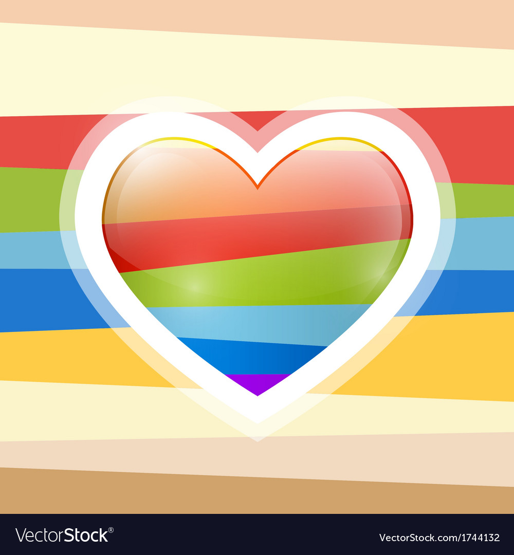 Abstract retro heart vector | Price: 1 Credit (USD $1)